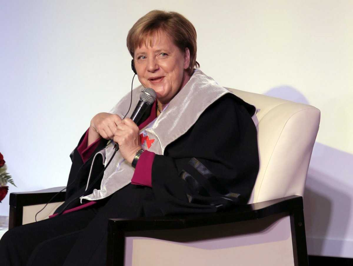 Honorary Doctorate Conferred on German Chancellor Angela Merkel, Dr. Michael Allen Baker, and Prof. Nel Noddings
