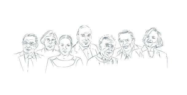 Illustration of honorary doctorate recipients
